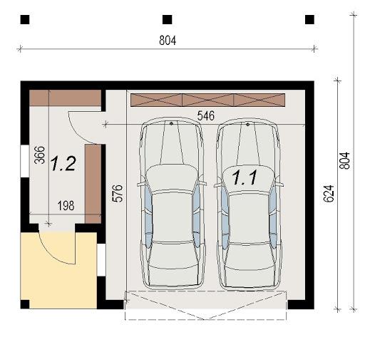 AD-G3.7 - Rzut garażu