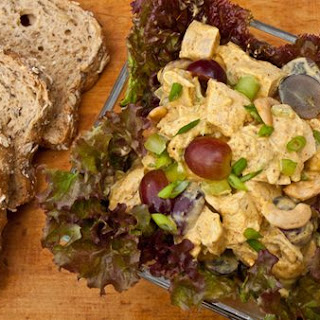 Curried Chicken Salad with Grapes & Cashews.