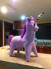 Photo: We had arrived just in time to celebrate Phoebe's 3rd birthday. She really wanted to have a Unicorn birthday - but there were no unicorn pinatas anywhere! Being her dutiful god parents, we made it our mission to make her wish come true...one purple pony and a few modifications later - a unicorn!