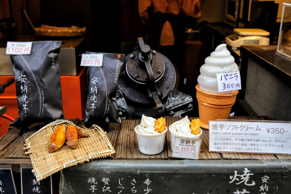 japońskie słodycze, lody