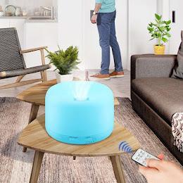 Difuzor de aromaterapie, Umidificator 300 ml, 7 culori, Telecomanda