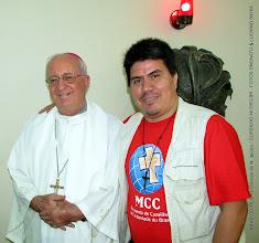 Photo: XII AD DO MCC na Diocese de N. Iguaçu. Vice Coodenador do GED-NI   Daniel Nonato com o Bispo Diocesano Dom Luciano Bergamin