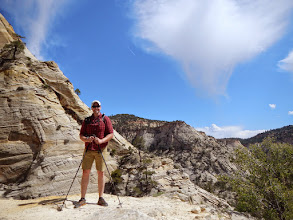 Photo: Aaron stops in the sunshine