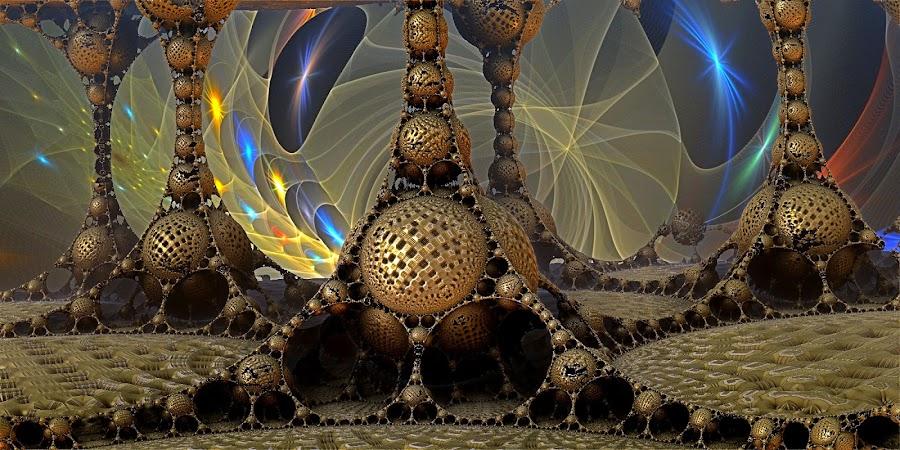 Abandoned Outpost by Rick Eskridge - Illustration Sci Fi & Fantasy ( fantasy, jwildfire, mb3d, fractal, twisted brush )