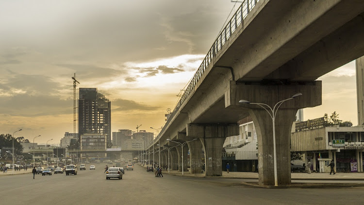 Giant concrete structures built for a light rail system changed the face of Addis Ababa, Ethiopia's capital city. Picture: ISTOCK