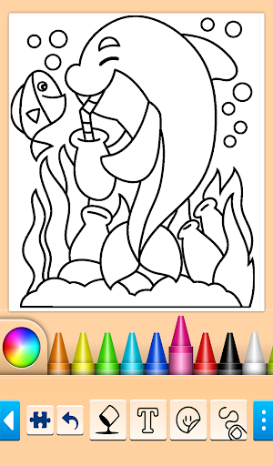 Dolphin and fish coloring book 14.0.4 screenshots 10