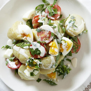 Potato Salad with Parsley and Mint.