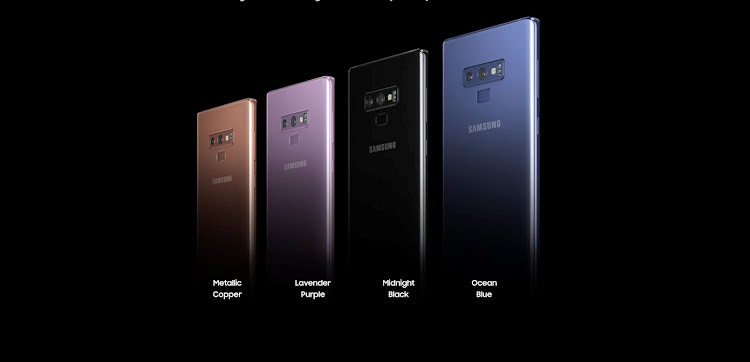 The Samsung Galaxy Note9 colour range