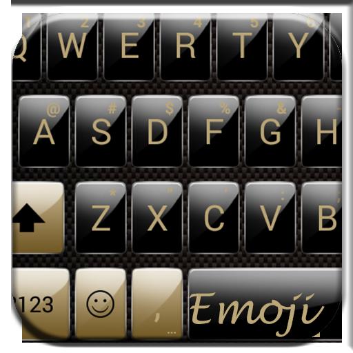 Gloss GoldBlack Emoji Keyboard