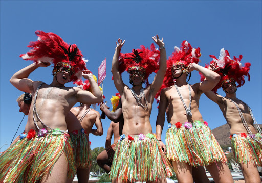 Revellers in the 2011 Cape Town Gay Pride Festival.