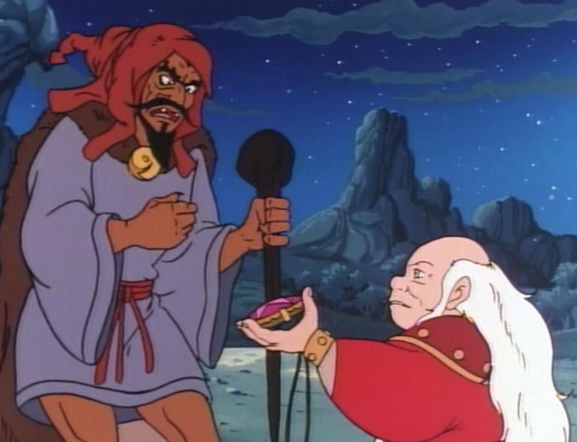 Dungeon Master gives Korlok the talisman.