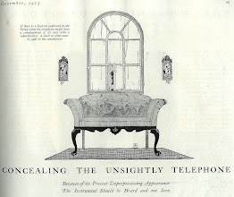 Photo: concealing the unsightly telephone