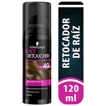 Retoca Raices Root   Retoucher Castaño  spray x120ml