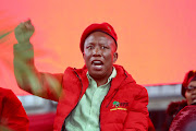 EFF leader Julius Malema adresses a Women's day Rally in Edendale, Pietermaritzburg.