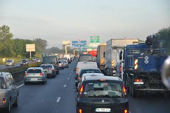 Photo: A bohužel také do ranní zácpy, která je pro Paříž typická.