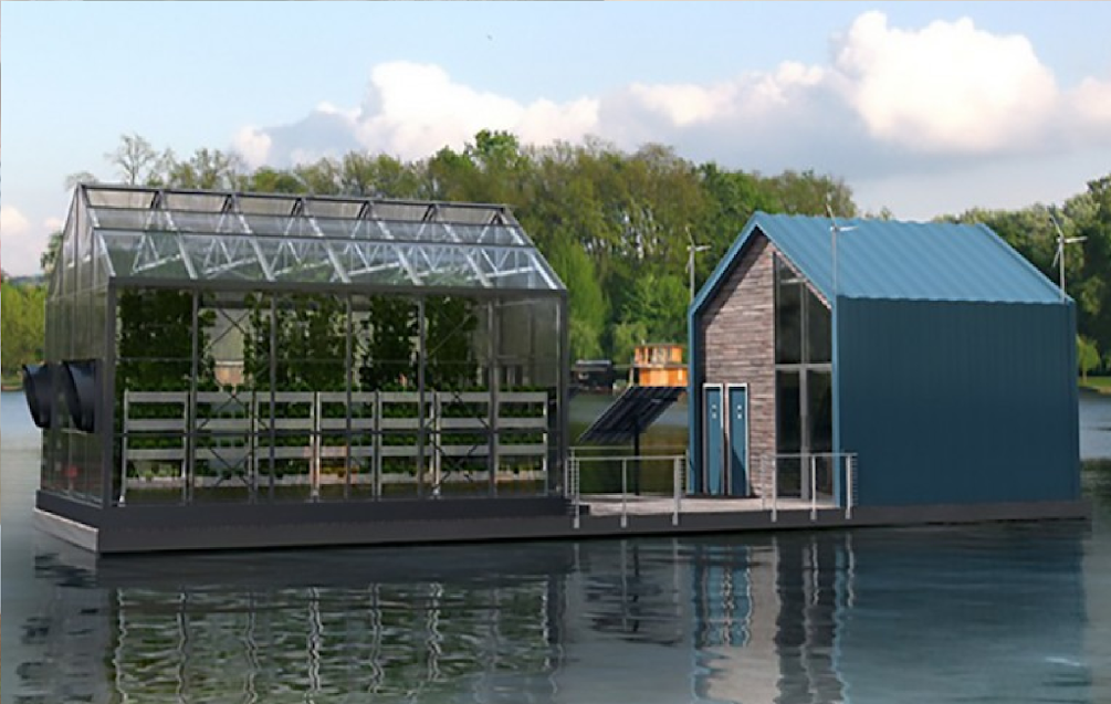 This Floating Greenhouse Grows Organic Food And Produces Clean Energy