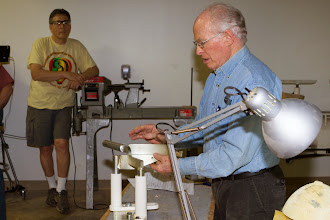 Photo: Phil explains how the OneWay easy coring system works.