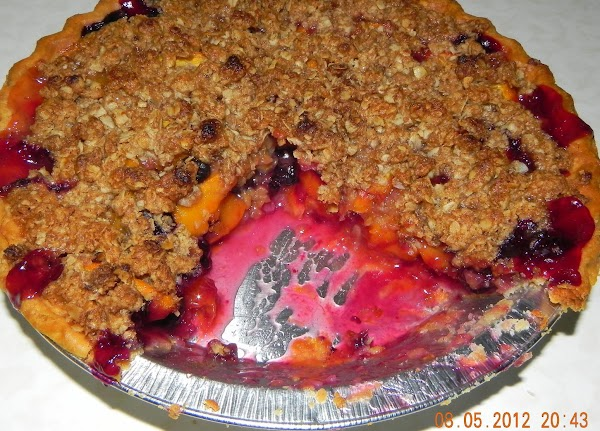 Cutting into it early causes juices to run more. If you refrigerate the pie...