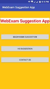 WebExam - Madhyamik & HS Suggestion App - náhled
