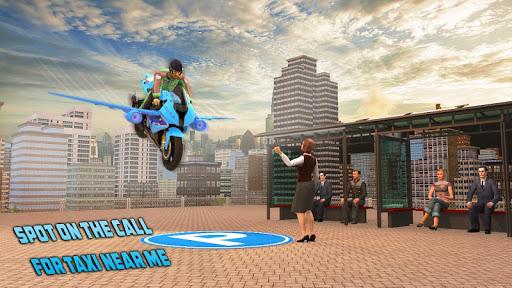 Real Flying Bike Taxi Simulator: Bike Driving Game apkmr screenshots 7
