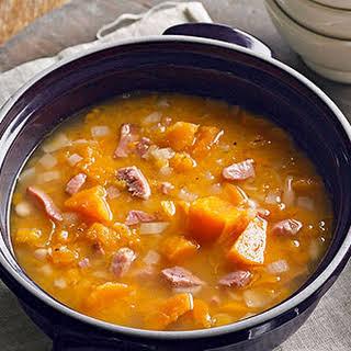 Ham and Sweet Potato Soup.