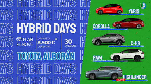 Últimos días de los Hybrid Days a Toyota. ¡Hasta 8.500 euros de descuento!