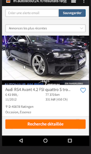 Auto Scout 24 Alerte Voiture Europe - náhled