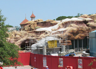Photo: Dumbo does give a good view of this area. Eventually a fence will hide the backstage portion here and denote the transition from Fantasyland to Carolwood Park.