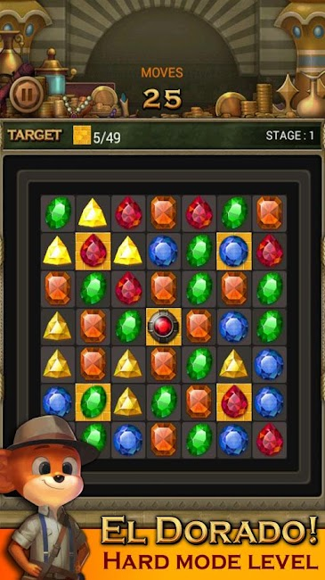 #6. Jewels Temple Quest : Match 3 (Android)