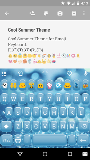Cool Summer Emoji Keyoard