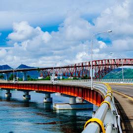 San Juanico Bridge by Victor Roman - Buildings & Architecture Bridges & Suspended Structures ( leyte, samar, travel, bridge, fuji xt1 )