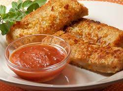 Itialian Grilled Cheese Sandwich Plated W/dipping Sauce
