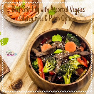 Beef Stir fry with Assorted Veggies in Ginger – Soy Sauce Recipe (GLUTEN FREE AND PALEO OPTIONS) #NationalGlutenFreeDay.