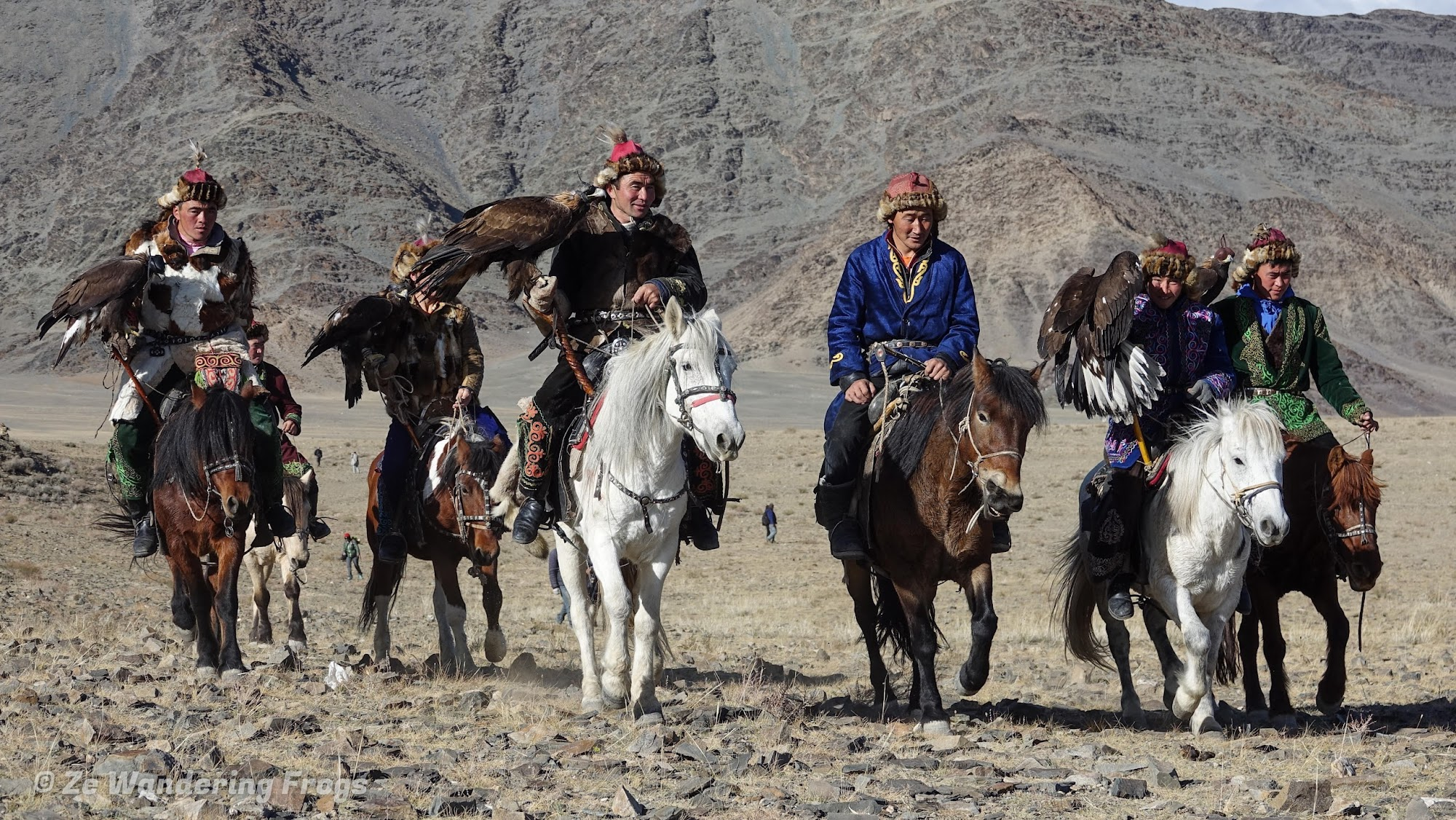Mongolia. Golden Eagle Festival Olgii. Golden Eagle Festival Opening Ceremony