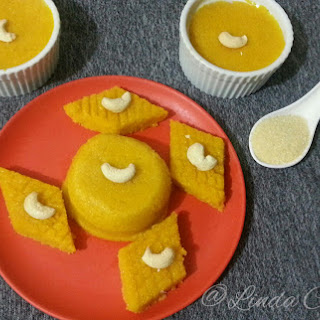 Semolina / Rava with Mango Pudding