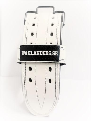 Wahlanders Bälte vit med svart söm - Medium