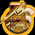 Western Gold Gun Keyboard Theme icon