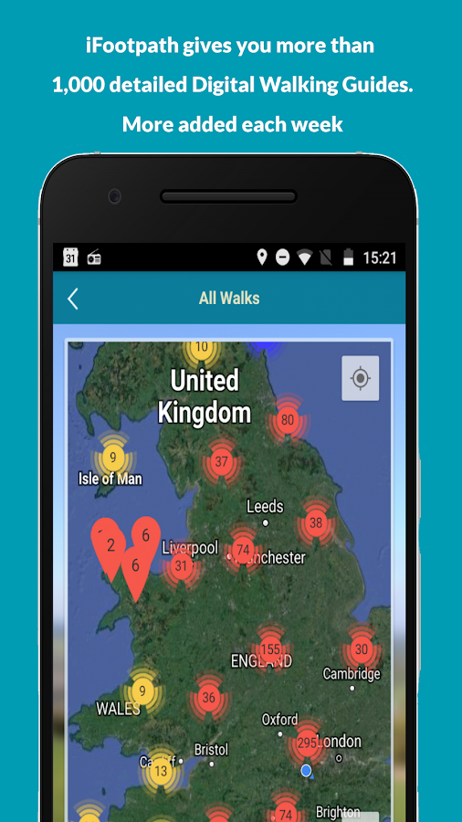iFootpath - UK Walking Guides with GPS Map- screenshot