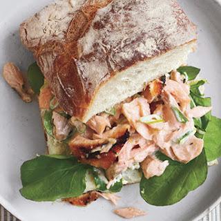 Salmon Salad Sandwiches on Ciabatta.