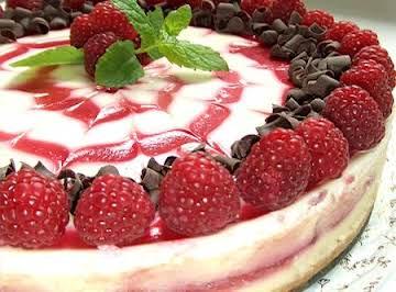 Gran Marnier Raspberry Cheesecake With Pecan Crust