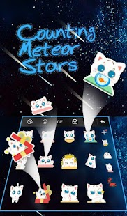 Live Counting Meteor Stars Keyboard Theme - náhled