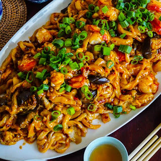 Spicy Lobster & Eggplant Noodles.