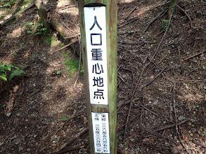 人口重心地点の標識