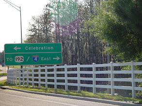 """Photo: """"Which way to 192?"""" sign, Celebration, FL"""