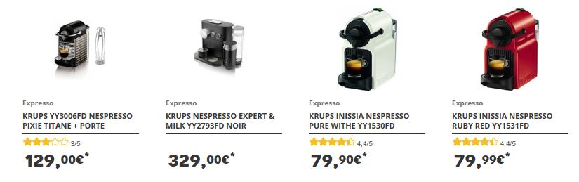 Machines à café Nespresso