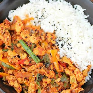 Korean Chicken Stir Fry.