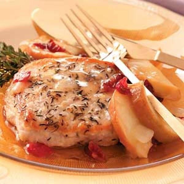 Apple Cherry Pork Chops Recipe