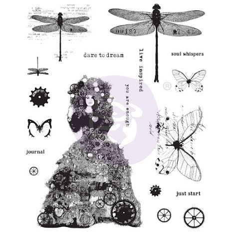 Prima Finnabair Cling Stamps 6X7.5 - Dare To Dream