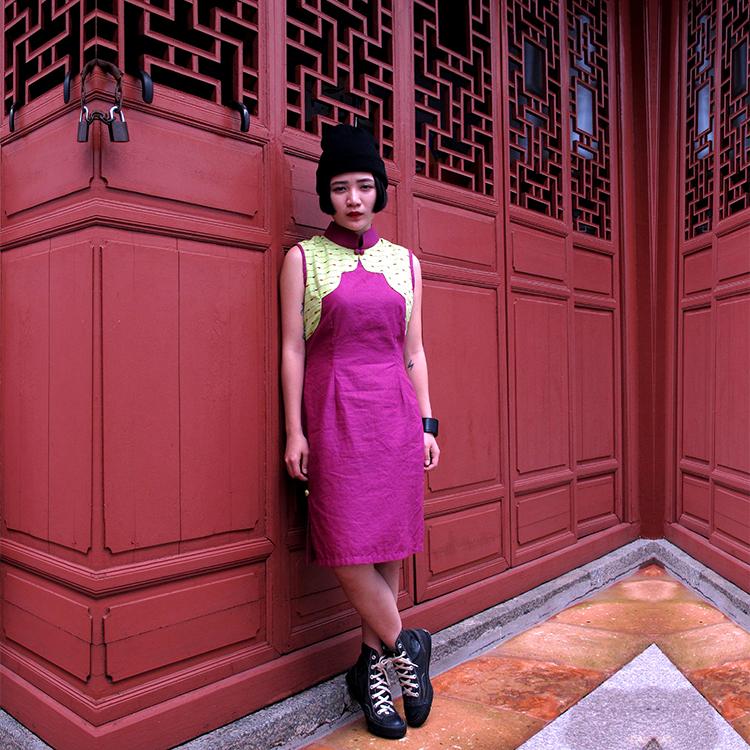 Yun Qipao Purple Medium by STH Creative S/B