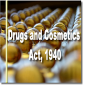 India - The Drugs and Cosmetics Act, 1940